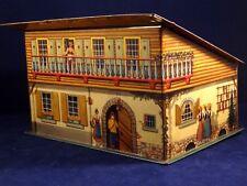 Ancienne boîte fer tôle chalet montagne maison ferme Petit Beurre Parein 1940