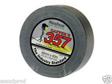 Nashua 357 Gaffa 2 Rolls 48mm x 40m Black Gaffers Tape FREE FAST POST