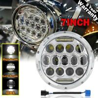 "7"" inch LED Projector Headlight DRL for Harley-Davidson Honda Yamaha Motorcycle"