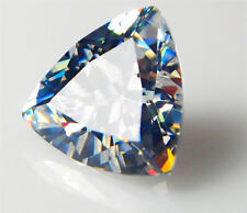 10.28Ct UNHEATED AAAA+ LOOSE SAPPHIRE GEMSTONE 12X12MM WHITE TRILLION CUT