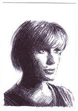 ACEO Art Sketch Card Katee Sackhoff as Starbuck from Battlestar Galactica