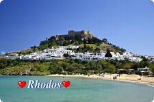 Kühlschrankmagnet,Magnetschild,Magnet-Motiv:Insel Rhodos I