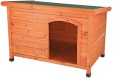 Trixie Outdoor Dog Club House Weatherproof Solid Pine Hinged Roof Medium New