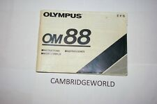 Olympus Om 88 Camera Instruction Manual Guide Book Original Genuine