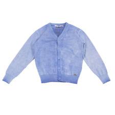 Take-Two Teen Merino Wool Cardigan Size 6Y Garment Dye Y Neck