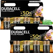 16 x Duracell AA Plus Power Alkaline Batteries, Duralock LR6 MN1500 MIGNON STILO