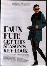 """knitting pattern ladies girls Faux Fur Jacket coat 34"""" to 46"""" chest Aran Wool"""