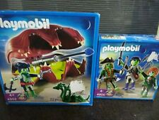 PLAYMOBIL 4800 & 4802 NEW & SEALED GHOST PIRATE SHELL WITH CANNON SEA MONSTER