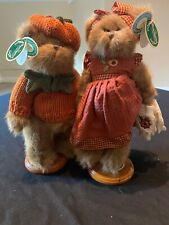 Bearington Plush Bears Collection Susie Sunflowers & Pippin Pumpkinseed J3