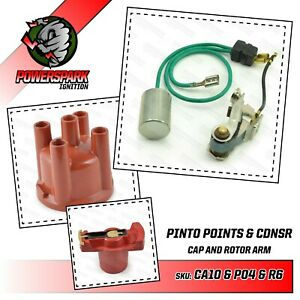 Replacement Points and Condenser set with Rotor arm & Distributor Cap for Bosch