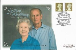 GB 1997 Luxury Queen's Golden Wedding Cover.Westminster Abbey HS