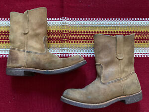 Red Wing Heritage Hawthorne Rough Out Suede 8188 9D Pecos Western boot 9