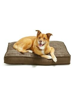 """Lacourte Pet Small Gusset Wood Look 27"""" x 36"""" Pet Bed - Brown"""