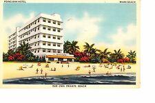 Miami Beach, Fl Art Deco Poinciana Hotel @ 1940