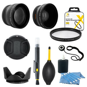 52MM Wide Angle & Telephoto Lens + Accessories for NIKON D5200 D5100 D3300 D3200