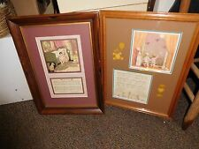 2 Berta and Elmer Hader's Picture Book of Mother Goose Prints-Framed #31 and #35