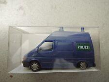 Rietze 50621 Ford Transit Bus Polizei blau in OVP aus Polizei-Sammlung (*4)