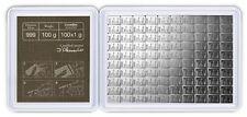 100 Gramm CombiBar 100 x 1 Gramm Tafelbarren Valcambi Silber 999 Barren