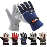 Thermal Fleece Gloves Warm Winter Lined Thick Men Motorcycle Ski Snowboard Polar