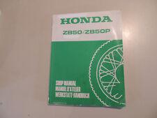 Manuel atelier Shop Manual Honda ZB 50/P Monkey MANUEL D 'ATELIER