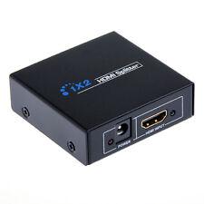 Convertisseur Commutateur Doubleur Câble HDMI Port Femelle 1 Entrée 2 Sorties 1x