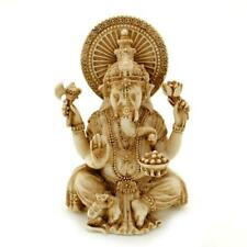 "GANESHA STATUE 3.25"" Small Hindu Elephant God Ivory Color Resin NEW Lord Ganesh"