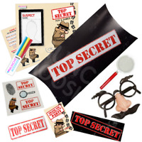 Pre Filled Top Secret Party Box - Spy Detective Agent Parties Activity Gift Bags
