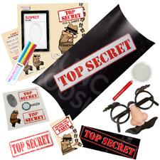 20 x Pre Filled Top Secret Party Box Spy Detective Agent Parties Activity Bags