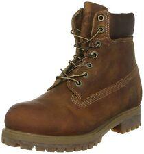 Men's Timberland 27094 Heritage 6-Inch Waterproof Boots Tan Burnt Orange Leather