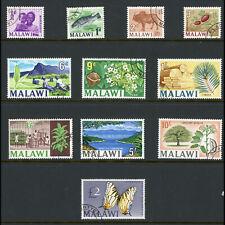 MALAWI 1966-67 Cockerel Wmk Set. SG 252-262. Fine Used. (WA307)