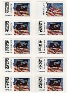 APC/CVP/ATM - Sheet of USPS Eagle Overprint ERRORS on Flag stamp #CVP91b