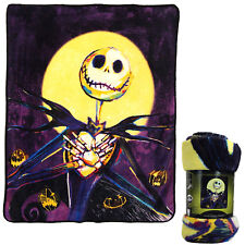 New Nightmare Before Christmas Pumpkin Delight Soft Micro Raschel Throw Blanket