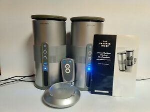 Sharper Image Indoor/Outdoor Wireless Mini Stereo Speakers CT413