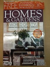 HOMES & GARDEN MAGAZINE MARCH 2018  -  WITH INSPIRING BATHROOMS MAG - NEW