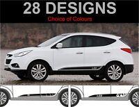 Hyundai ix35 Strisce Laterali Adesivi Decalcomanie Grafiche per Ix 35 2010-2015