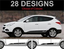 Hyundai ix35 side stripes graphics decals stickers fit hyundai ix 35 2010-2015