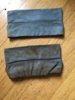 RARE calots 1918 Bleu Horizon x2 fabrication privée, bandeau cuir intérieur.