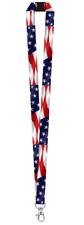 American FLAG LANYARD Key chain ID Holder Breakaway clasp USA Patriotic Keyring