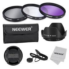 Neewer 55mm juego de filtro UV CPL FLD para DSLR con filtro de rosca 55mm