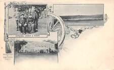 ST HELENA, AFRICA, RARE BOER WAR MULTI-VIEW, PRISON CAMP, GENERAL CRONJE c 1901