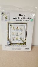 HERB WINDOW GARDEN LINDA BIRD COUNTED CROSS STITCH KIT THE DESIGN CONNECTION NEW