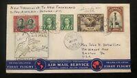 1939 Shediac NB Canada First Flight Airmail Cover FFC To Botwood Newfoundland
