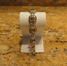 Ann Taylor Citrine Gold Chain Link Bracelet New Beautiful!