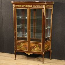 Showcase French Furniture Wood Mahogany Painting Antique Style Bookcase Cupboard