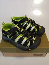 New With Box Youth Keen Newport H2 Black/Lime Green Sandals Size 1 (1009965) #US
