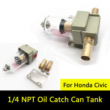 1/4 NPT OIL SEPARATOR CATCH RESERVOIR TANK CAN BAFFLED FOR HONDA CIVIC