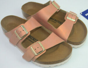 Birkenstock Arizona Washed Metallic Sea Copper Normal Width Size 36