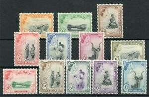 Swaziland 1956 set SG53/64 MNH