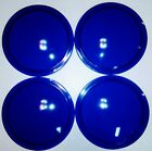 "1 Vintage Kopp 5""in Blue Glass Railroad Lantern Convex Lens, NOS."