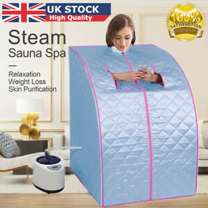 2L Steam Sauna Portable Spa Room Home Full Body Slimming Detox Therapy + Chair